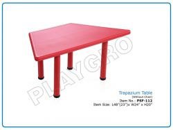 Trapezium Table (Without Chair) for School